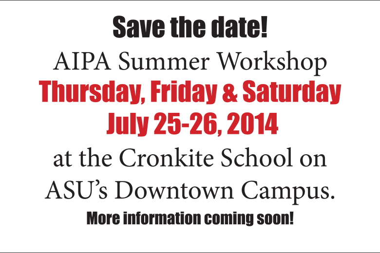 Summer workshop dates announced