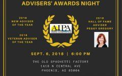 Join Us! Adviser Dinner and Awards Sept. 6